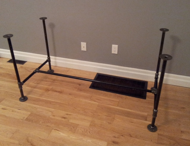 DIY Table Legs Pipe  DIY Pipe & Wood Table Pt 1 Storefront Life