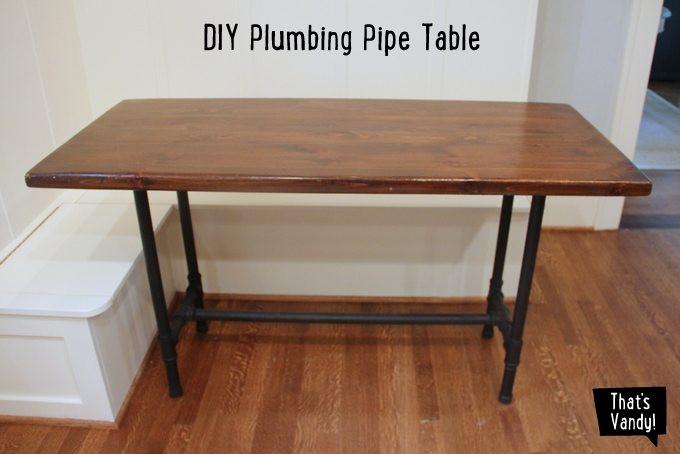 DIY Table Legs Pipe  DIY Plumbing Pipe Table That s Vandy