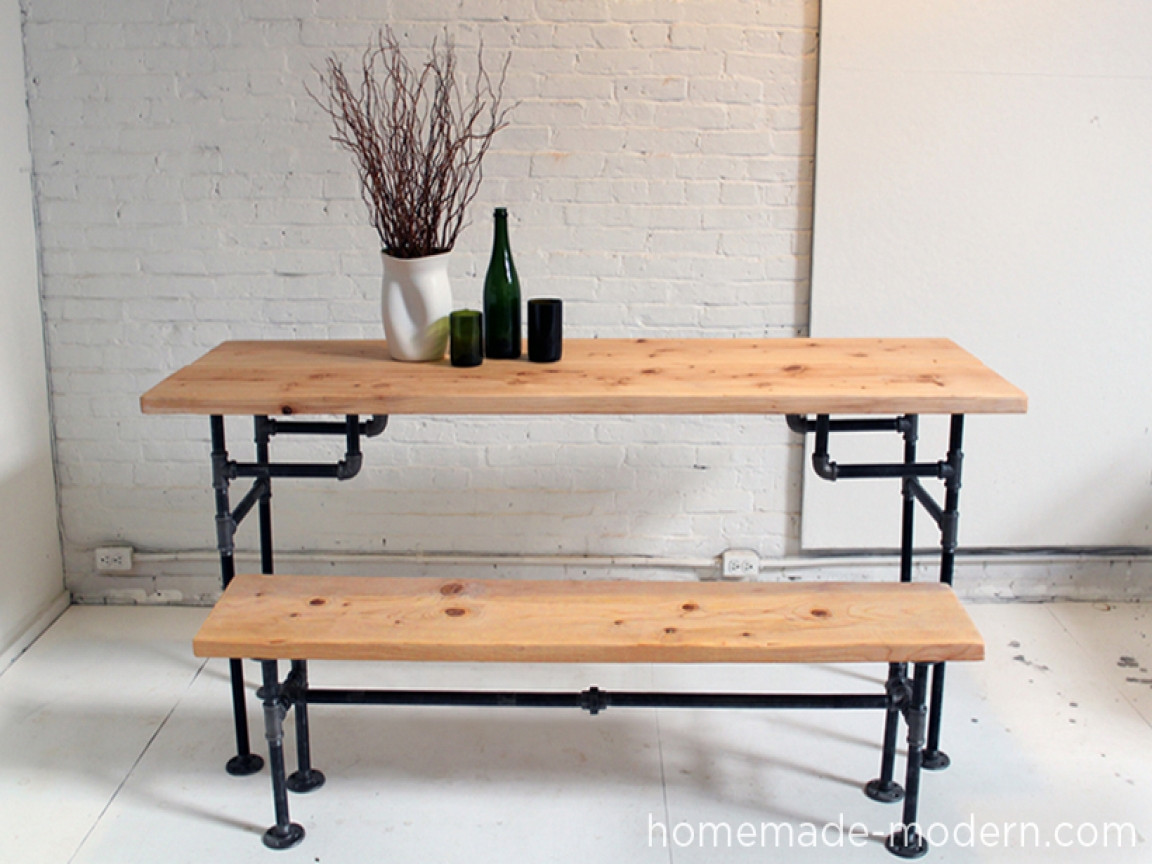 DIY Table Legs Pipe  Iron and wood table diy galvanized pipe table legs diy