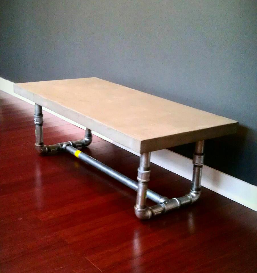 DIY Table Legs Pipe  DIY Concrete Table – Dave and Kelly Davis