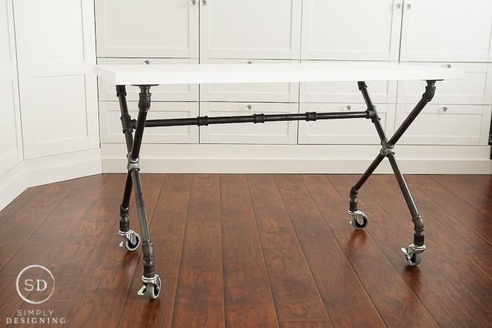 DIY Table Legs Pipe  DIY Industrial Pipe Leg Desk Craft Room Part 7