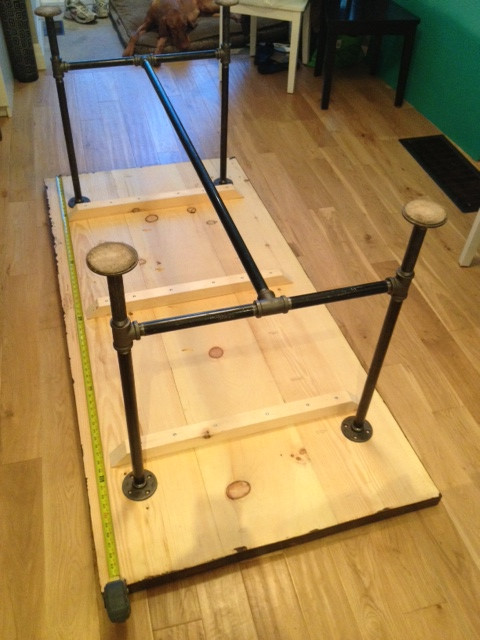 DIY Table Legs Pipe  Pipe & Wood Table V2 Storefront Life