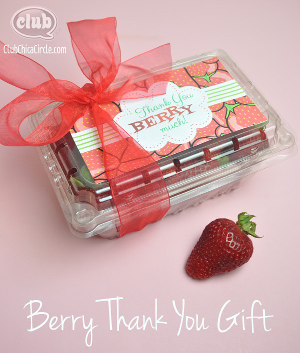 "Diy Thank You Gift Ideas  We are ""Berry"" Thankful Homemade Teacher Gift Idea"