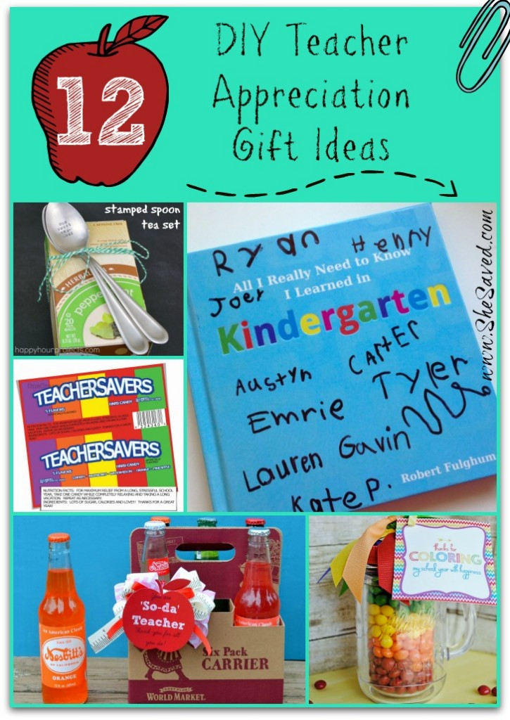 Diy Thank You Gift Ideas  12 DIY Teacher Appreciation Gift Ideas SheSaved
