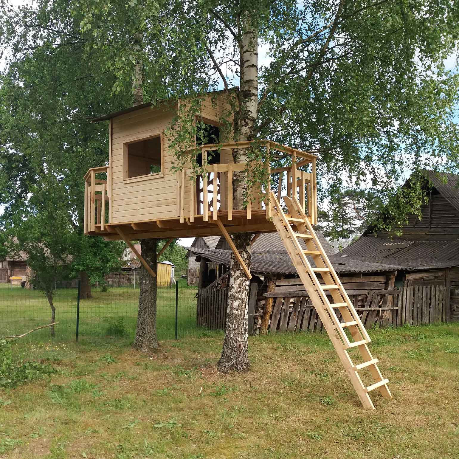 Best ideas about DIY Treehouse Kits . Save or Pin Two Birches treehouse DIY kit – Houseintree Now.