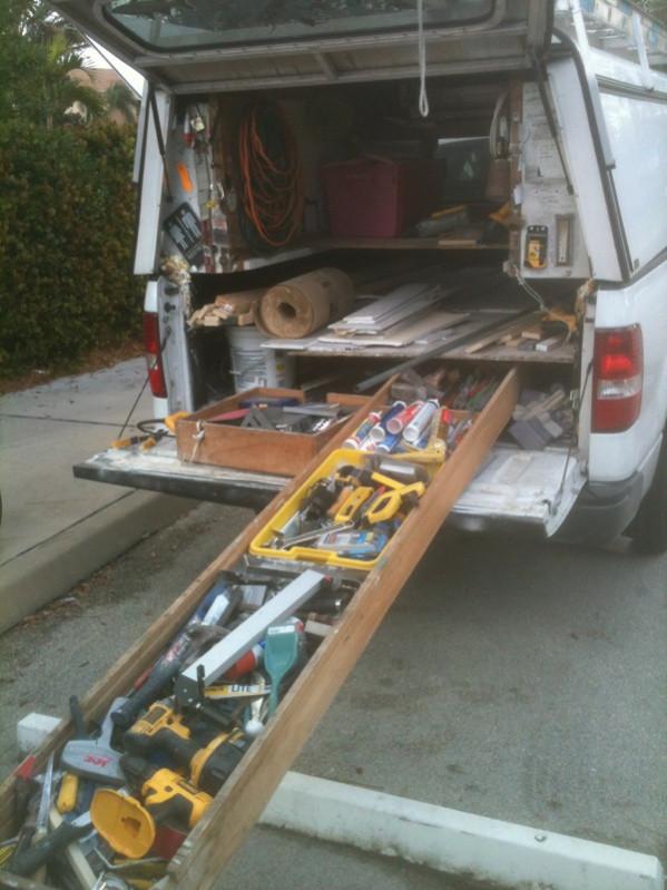 DIY Truck Tool Box  Homemade Truck Bed Slide Tools & Equipment Contractor