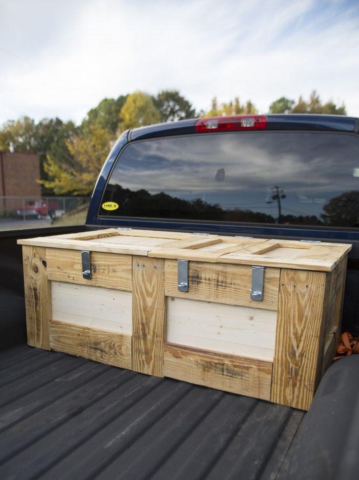 DIY Truck Tool Box  7 best diy wooden truck beds images on Pinterest