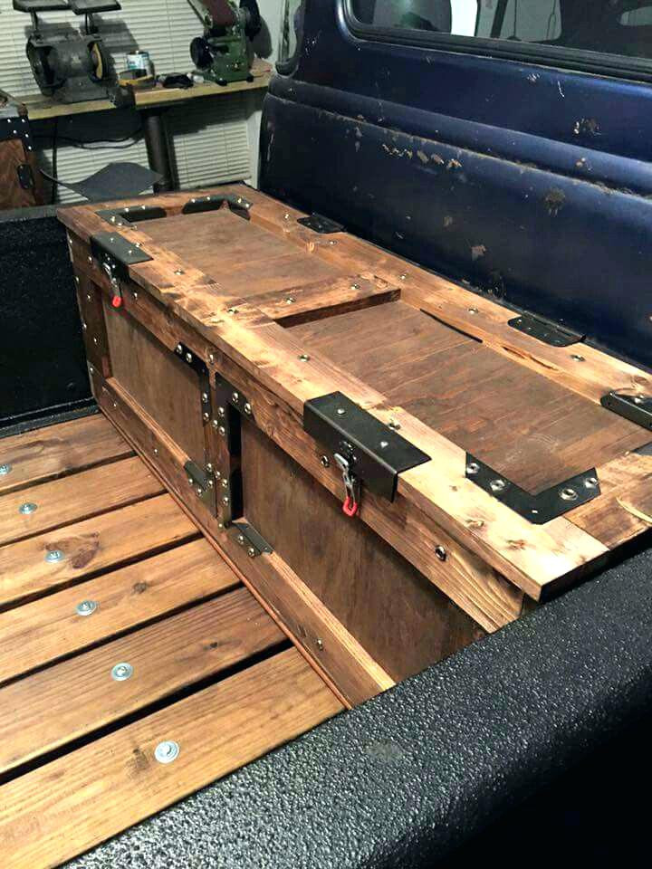 DIY Truck Tool Box  Truck Bed Tool Drawer In Bed Tool Box Pick Up Truck