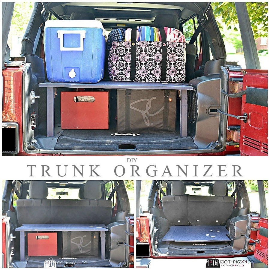 DIY Trunk Organizer  Trunk Organizer Double your storage space