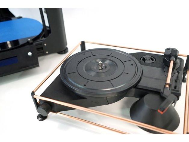 DIY Turntable Kit  Atom Spinbox A 3D DIY Portable Turntable Kit by layerone