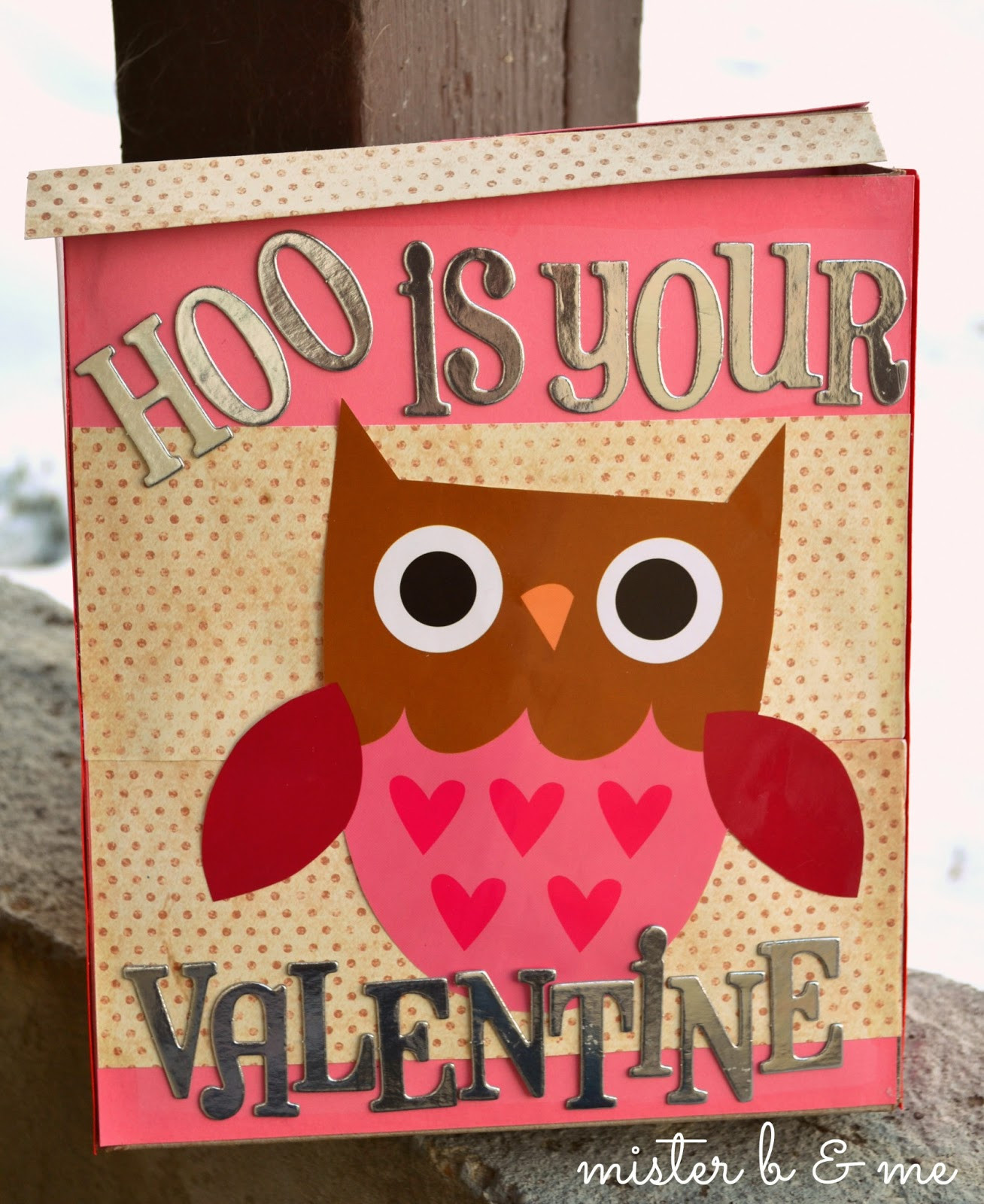 Best ideas about DIY Valentine Box . Save or Pin mister b and me diy valentines box Now.