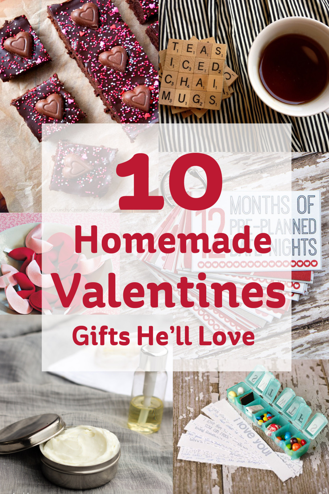 Best ideas about DIY Valentine'S Gifts . Save or Pin 10 Homemade Valentines Gifts He ll Love Hobbycraft Blog Now.