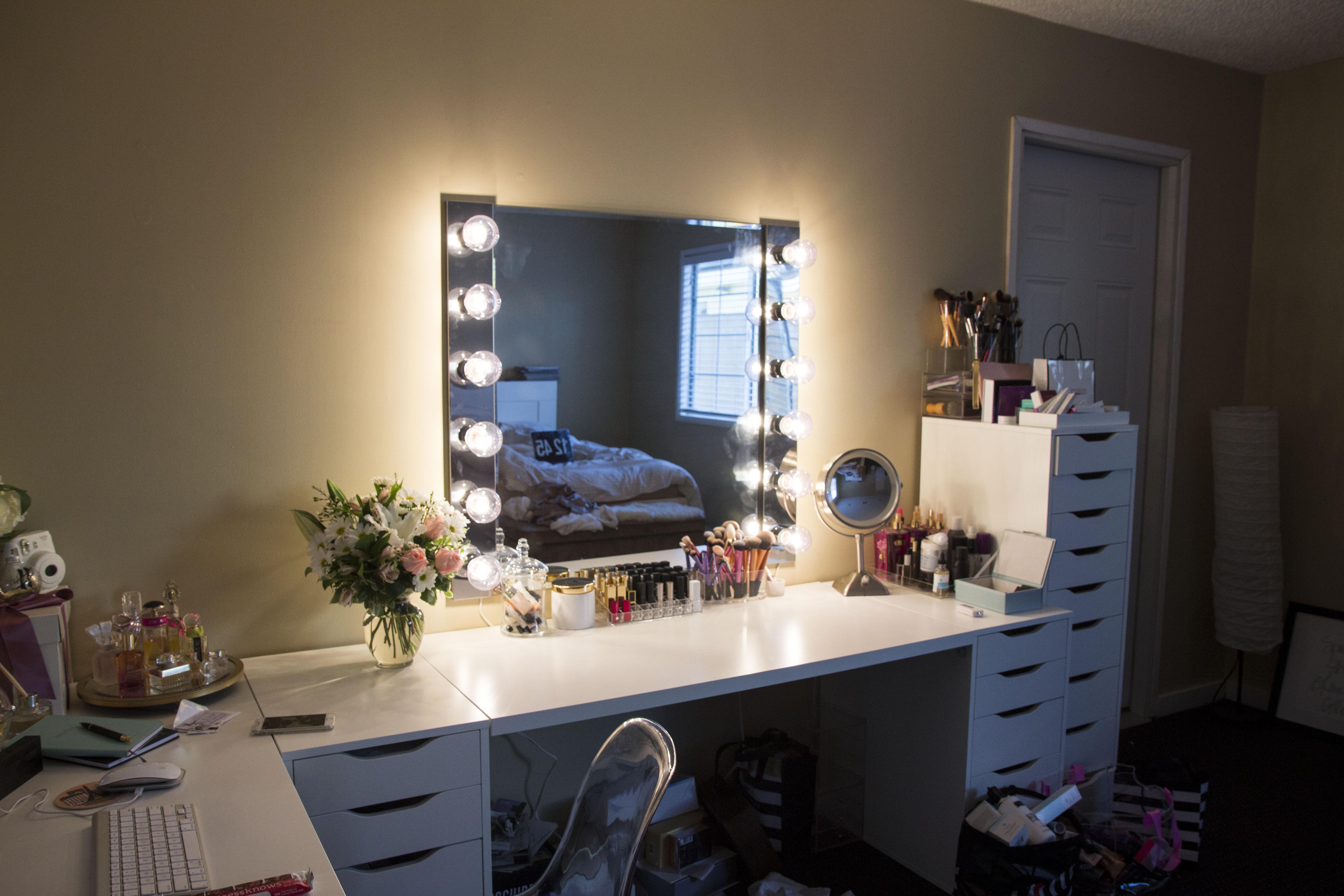 DIY Vanity Lights  DIY Vanity Mirror Light Step by step • A Love Affair Blog