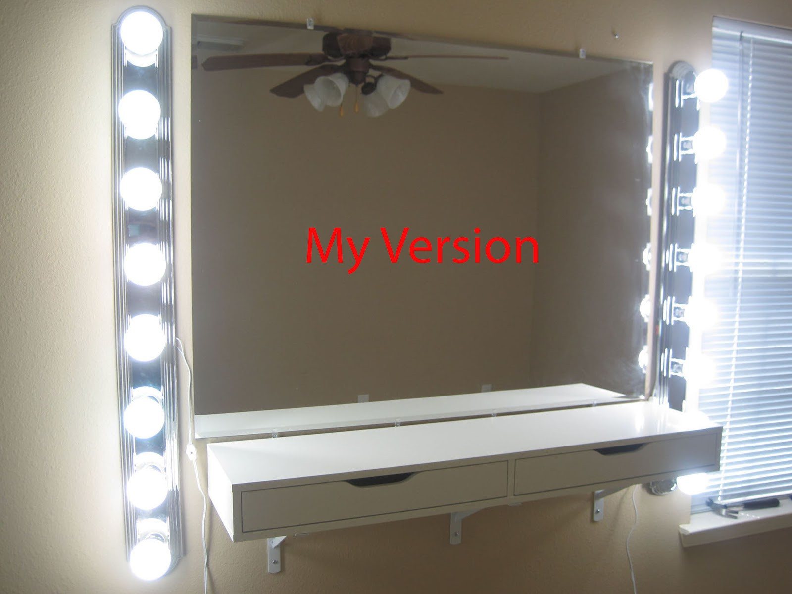 DIY Vanity Lights  chabz DIY Vanity Mirror and Lights