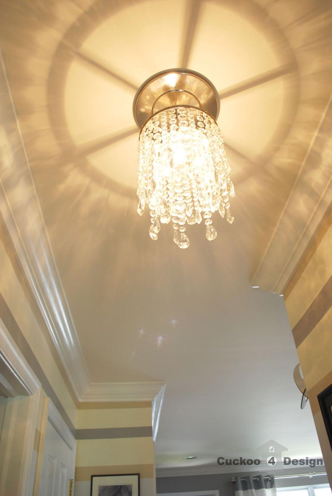 DIY Vanity Lights  DIY crystal vanity shades Cuckoo4Design