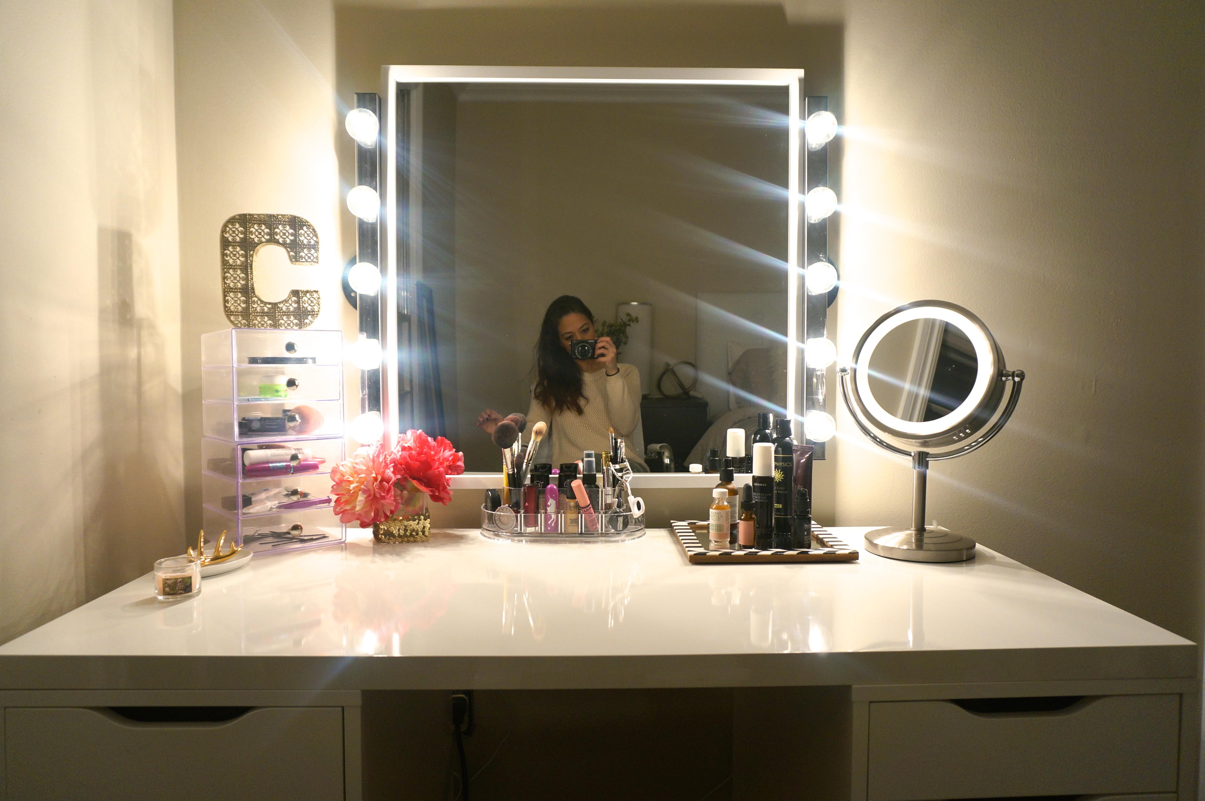 DIY Vanity Lights  DIY Makeup Vanity