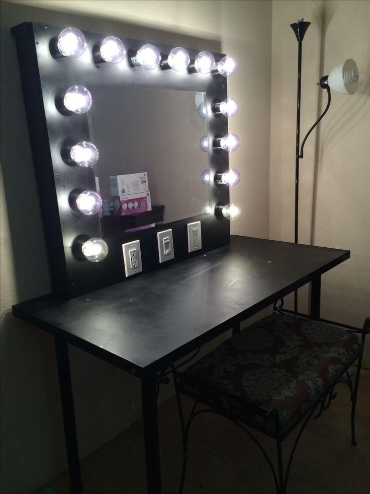 DIY Vanity Lights  17 DIY Vanity Mirror Ideas to Make Your Room More Beautiful