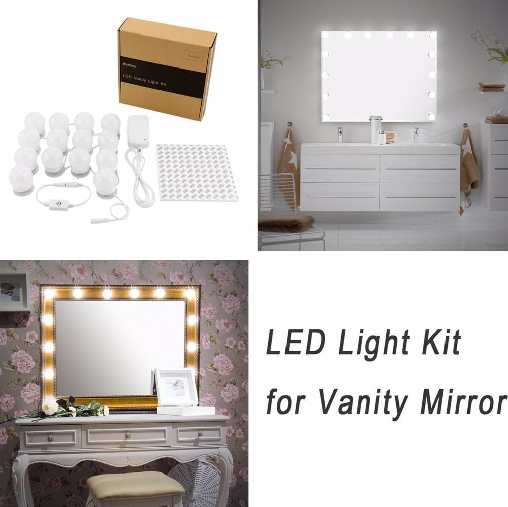 DIY Vanity Lights  Hollywood DIY Vanity Lights Strip Kit for Lighted Makeup