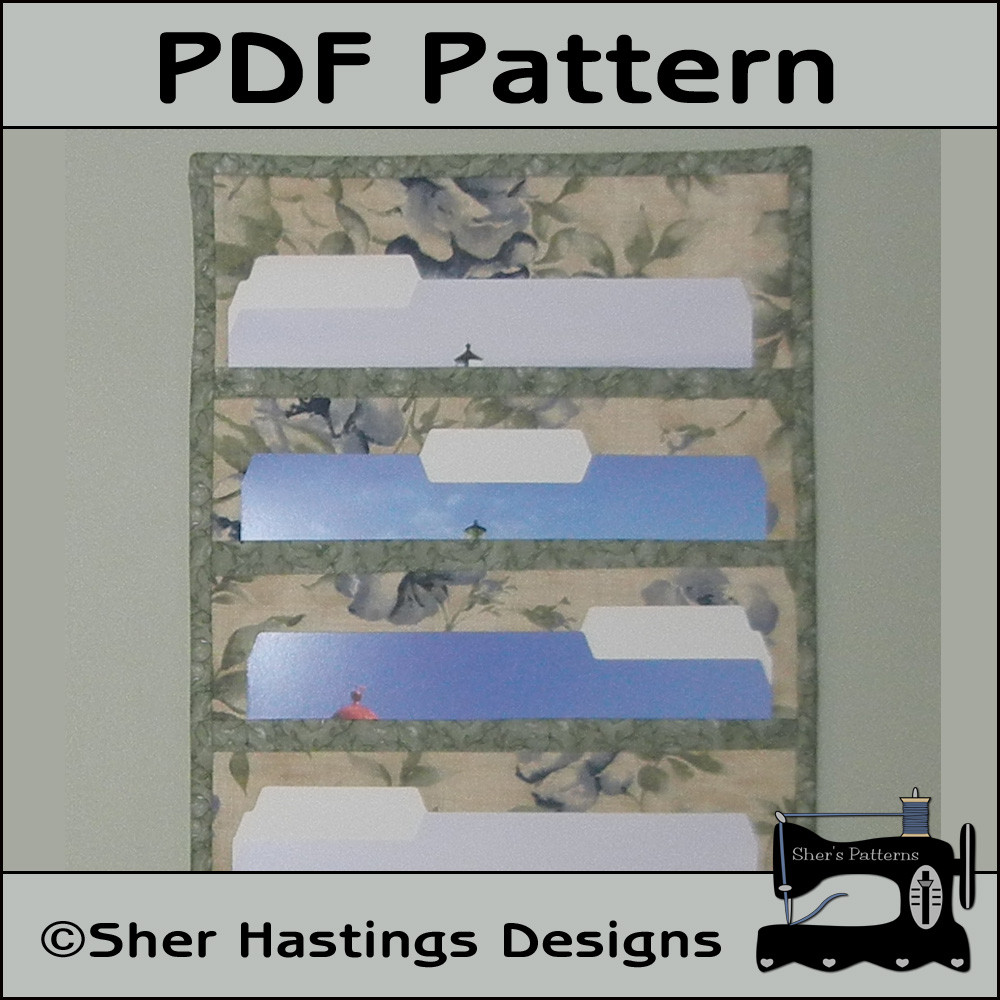 Best ideas about DIY Wall File Organizer . Save or Pin PDF Pattern For File Folder Pocket Organizer Wall Hanging Now.