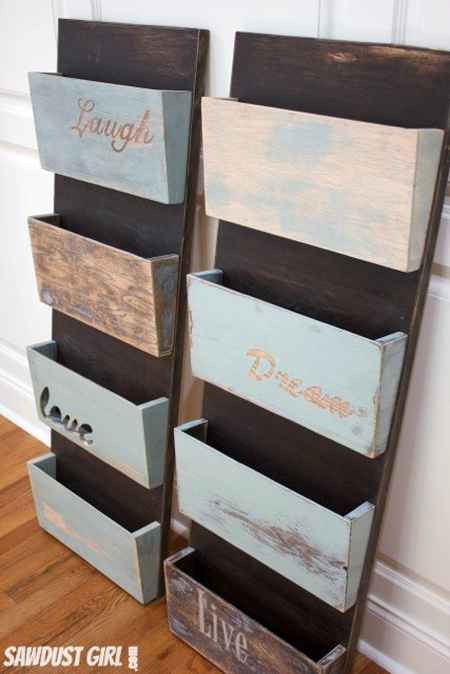 Best ideas about DIY Wall File Organizer . Save or Pin 18 Genius DIY Hanging Storage Solutions And Ideas Now.