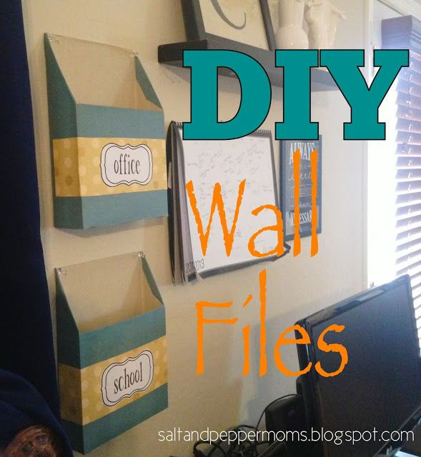 Best ideas about DIY Wall File Organizer . Save or Pin DIY Wall Files w Printable Labels made from cereal boxes Now.