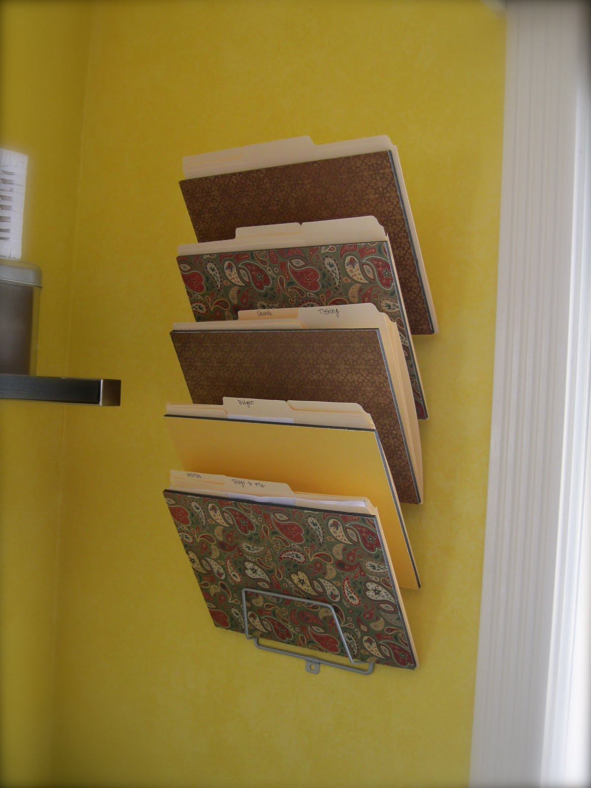 Best ideas about DIY Wall File Organizer . Save or Pin Creative And Simple DIY Wall Mounted File Organizer For Now.