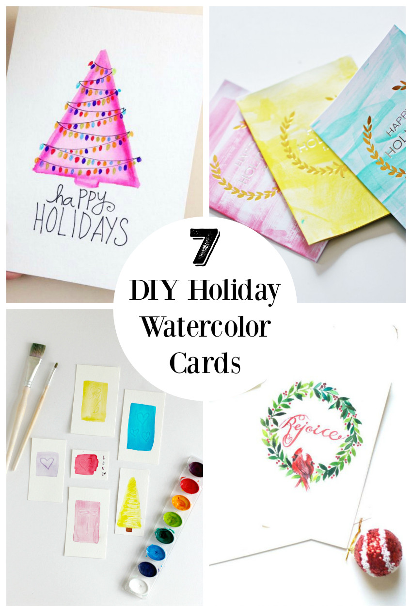 DIY Watercolor Christmas Cards  7 DIY Holiday Watercolor Cards to Send Out to Friends