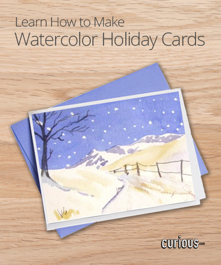 DIY Watercolor Christmas Cards  DIY Watercolor Holiday Cards