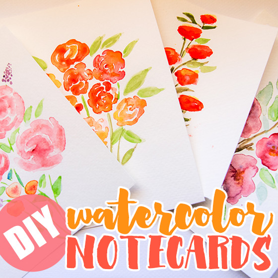 DIY Watercolor Christmas Cards  DIY Watercolor Note Cards Daily Mom