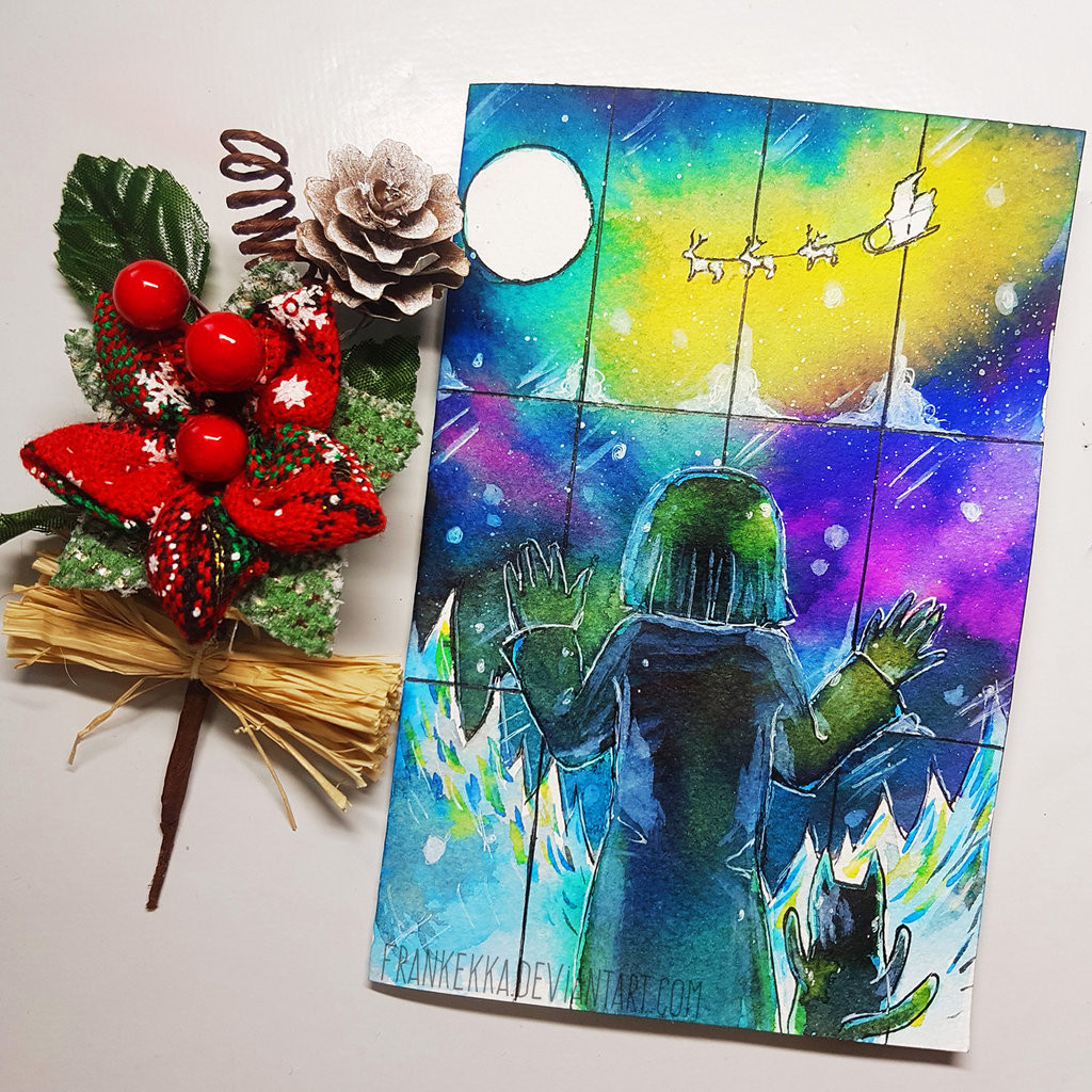 DIY Watercolor Christmas Cards  DIY Watercolor Christmas Card Tutorial by frankekka on