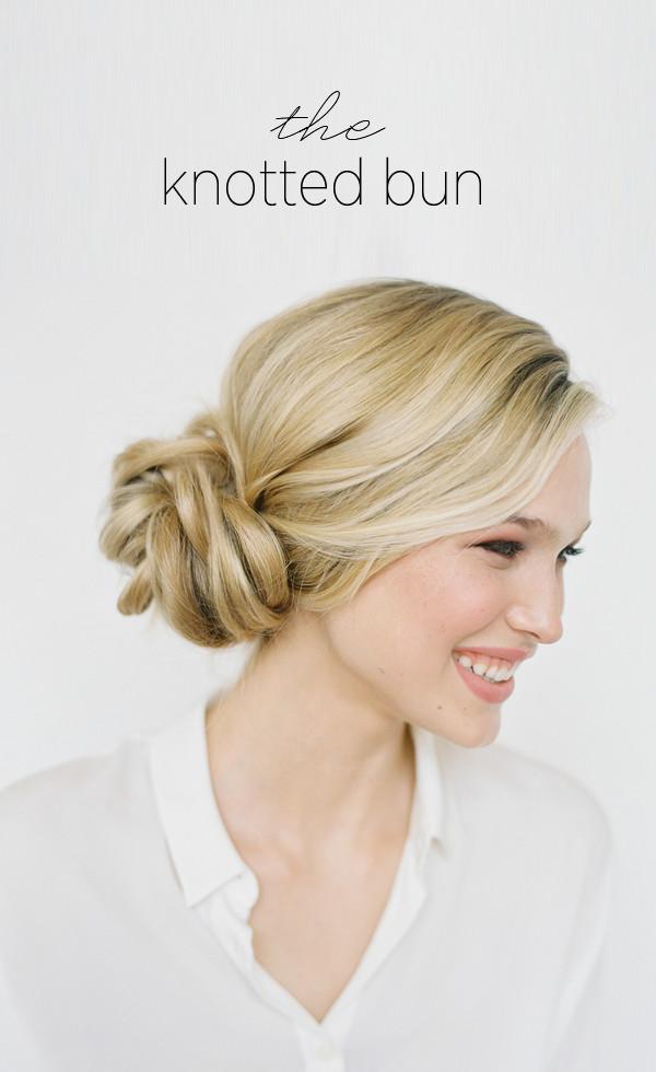 Diy Wedding Hairstyles  DIY Knotted Bun Wedding Hairstyle