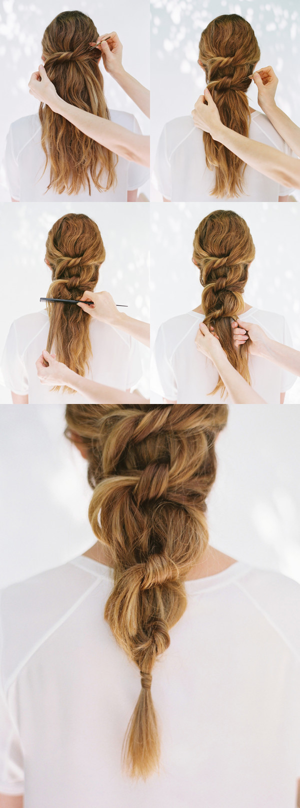Best ideas about DIY Wedding Hairstyles For Long Hair . Save or Pin DIY Knot Ponytail DIY Weddings Now.