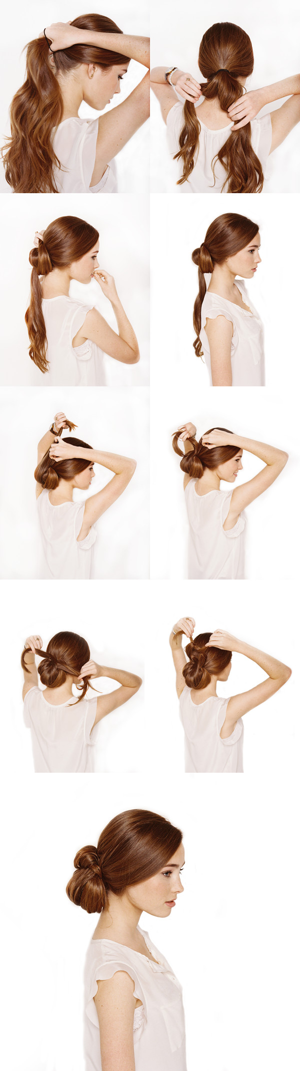 Best ideas about DIY Wedding Hairstyles For Long Hair . Save or Pin Knotted Chignon Wedding Hair Tutorial ce Wed Now.