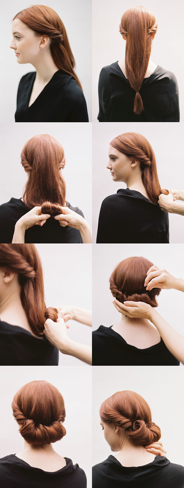 Best ideas about DIY Wedding Hairstyles For Long Hair . Save or Pin DIY Rolled Chignon Hair Tutorial DIY Now.