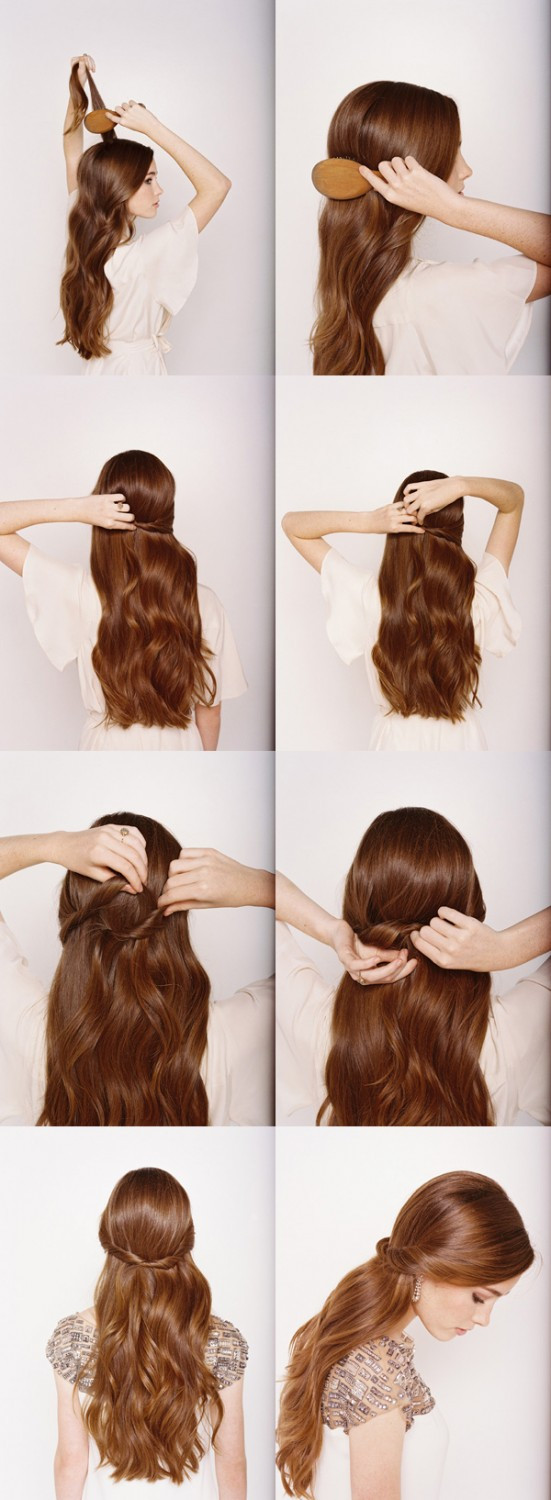 Best ideas about DIY Wedding Hairstyles For Long Hair . Save or Pin 14 DIY Hairstyles For Long Hair Now.