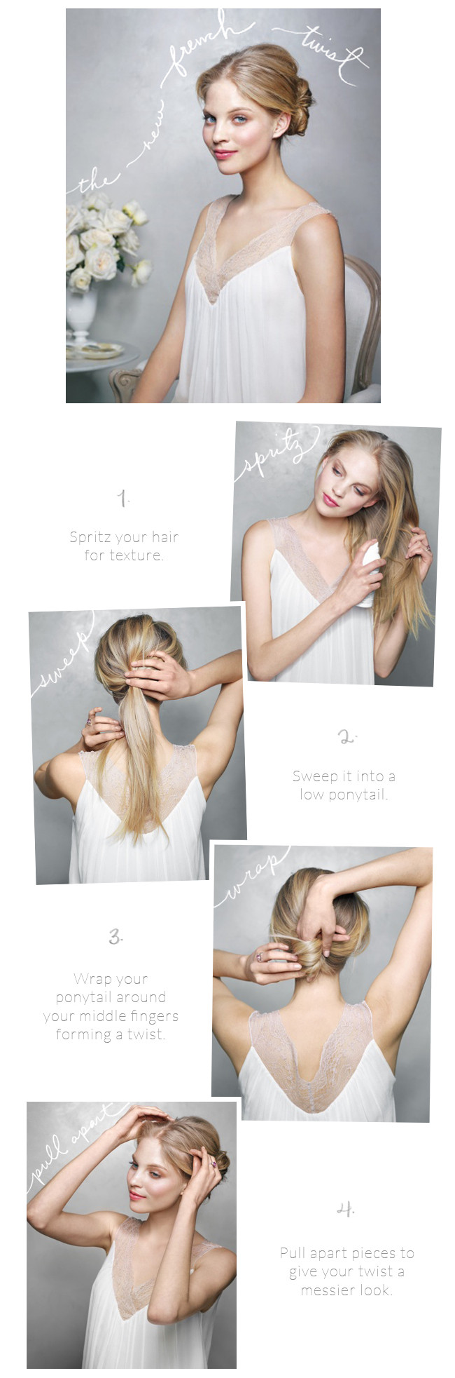 Best ideas about DIY Wedding Hairstyles For Long Hair . Save or Pin The New French Twist Wedding Hairstyles Tutorial ce Wed Now.