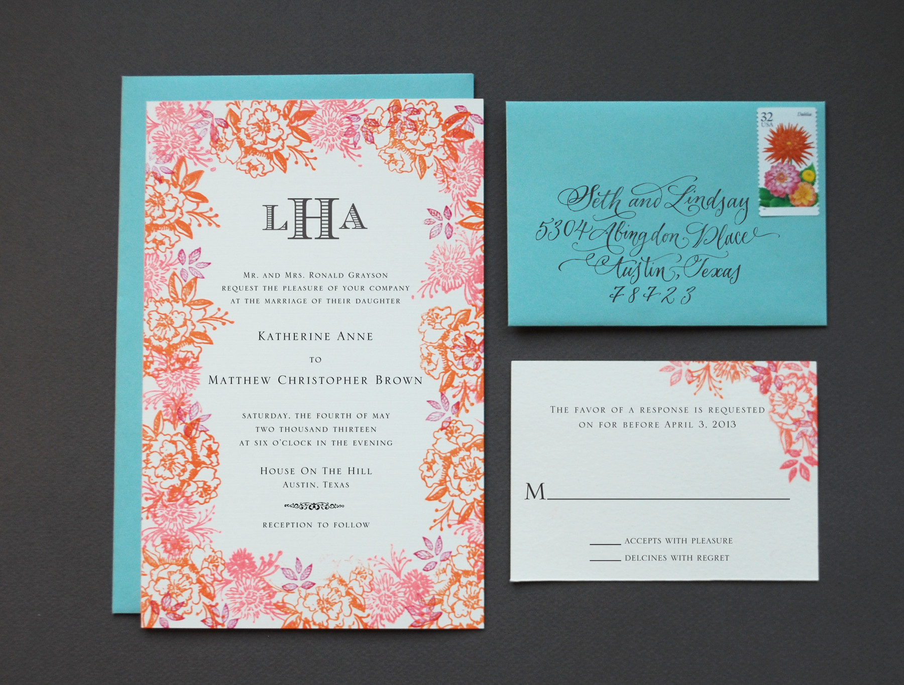 Best ideas about DIY Wedding Invites . Save or Pin DIY Rubber Stamp Floral Wedding Invitations Now.