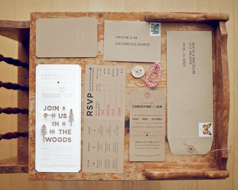 Best ideas about DIY Wedding Invites . Save or Pin Christine Ian s DIY Lasercut Woodland Wedding Invitations Now.