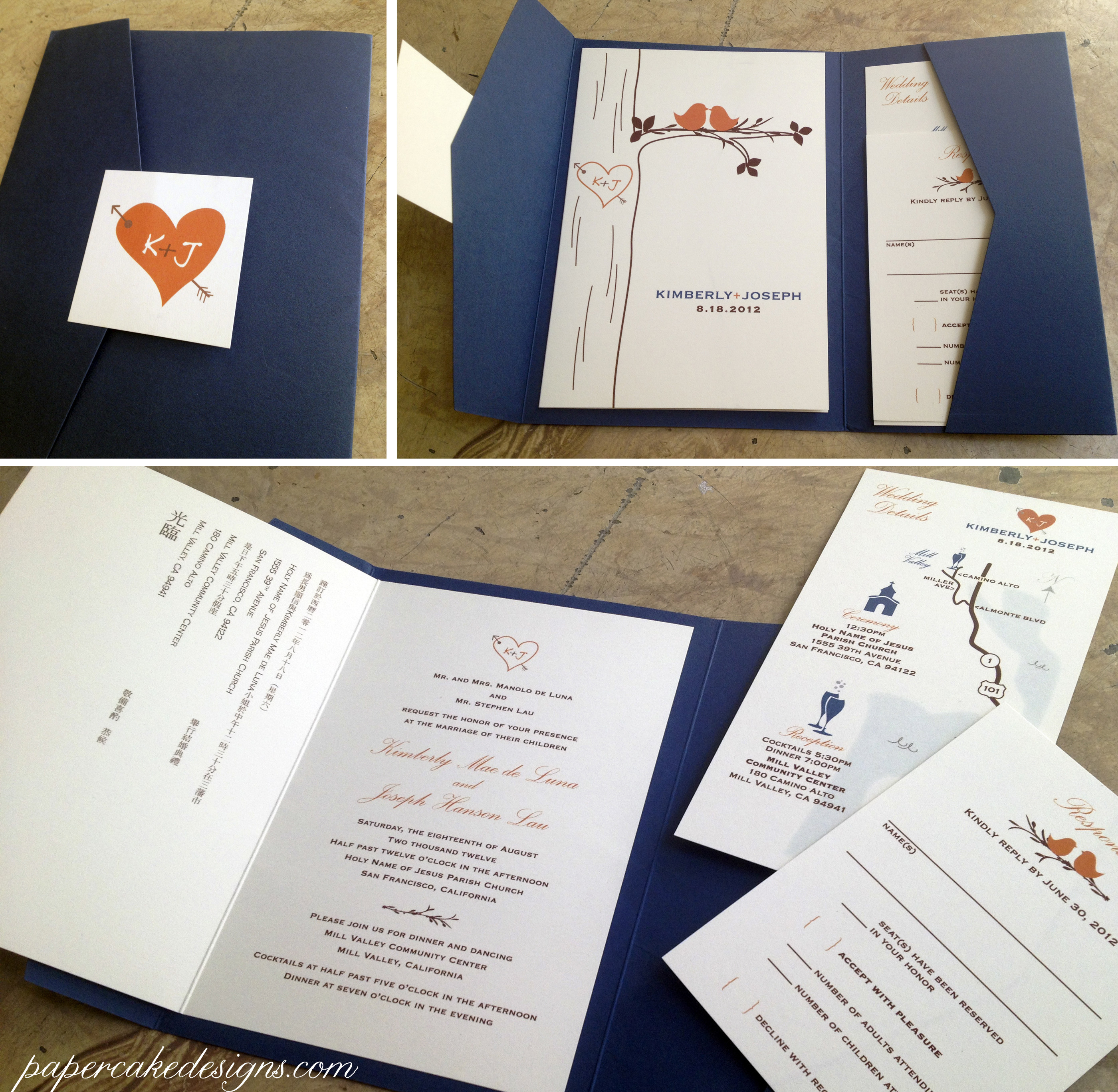 Best ideas about DIY Wedding Invites . Save or Pin [DIY print & assemble] wedding invitations – papercake designs Now.