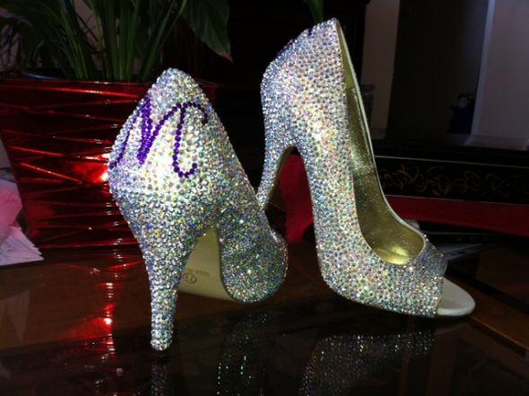 DIY Wedding Shoe  DIY Crystal Wedding Shoes
