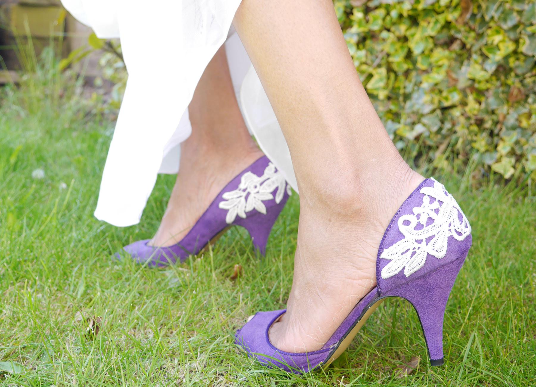 DIY Wedding Shoe  Bridal DIY Lace wedding shoes The Nuptial