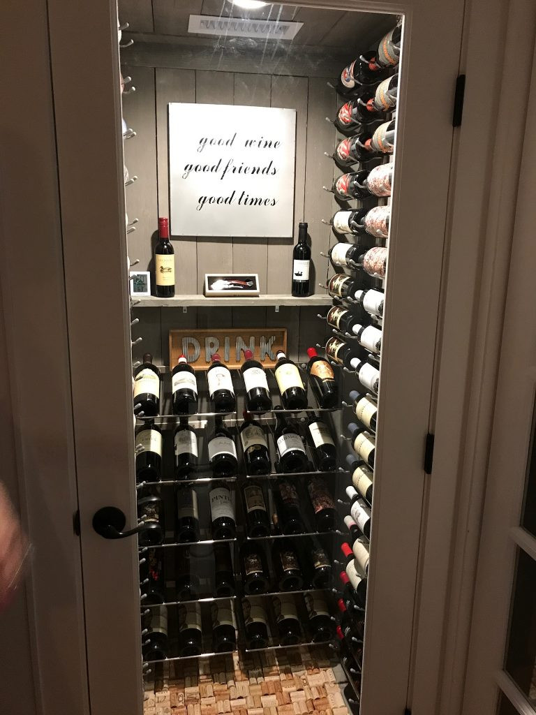 DIY Wine Celler  Turning a water heater closet into a custom wine cellar in