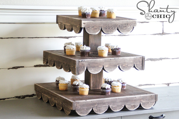 Best ideas about DIY Wood Cake Stand . Save or Pin DIY Cupcake Stand And a Giveaway Shanty 2 Chic Now.