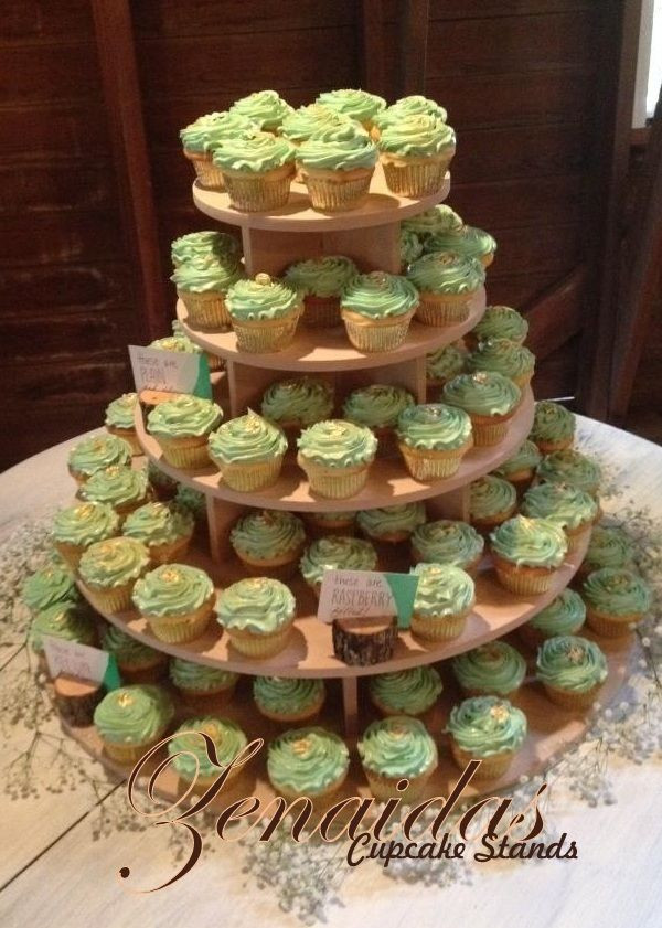 Best ideas about DIY Wood Cake Stand . Save or Pin 5 TIER CUPCAKE STAND ROUND WOOD DIY PROJECT CUPCAKE TOWER Now.