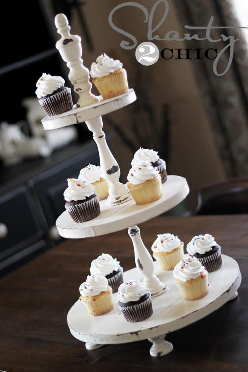 Best ideas about DIY Wood Cake Stand . Save or Pin 5 Ways to Make Your Own Tiered Cake Stand Infarrantly Now.