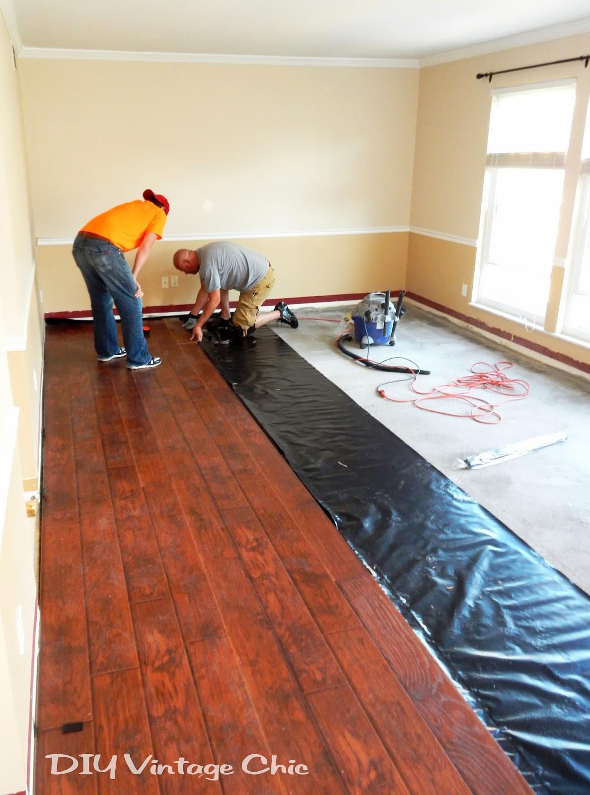Best ideas about DIY Wood Floor . Save or Pin DIY Vintage Chic DIY Laminate Flooring Now.