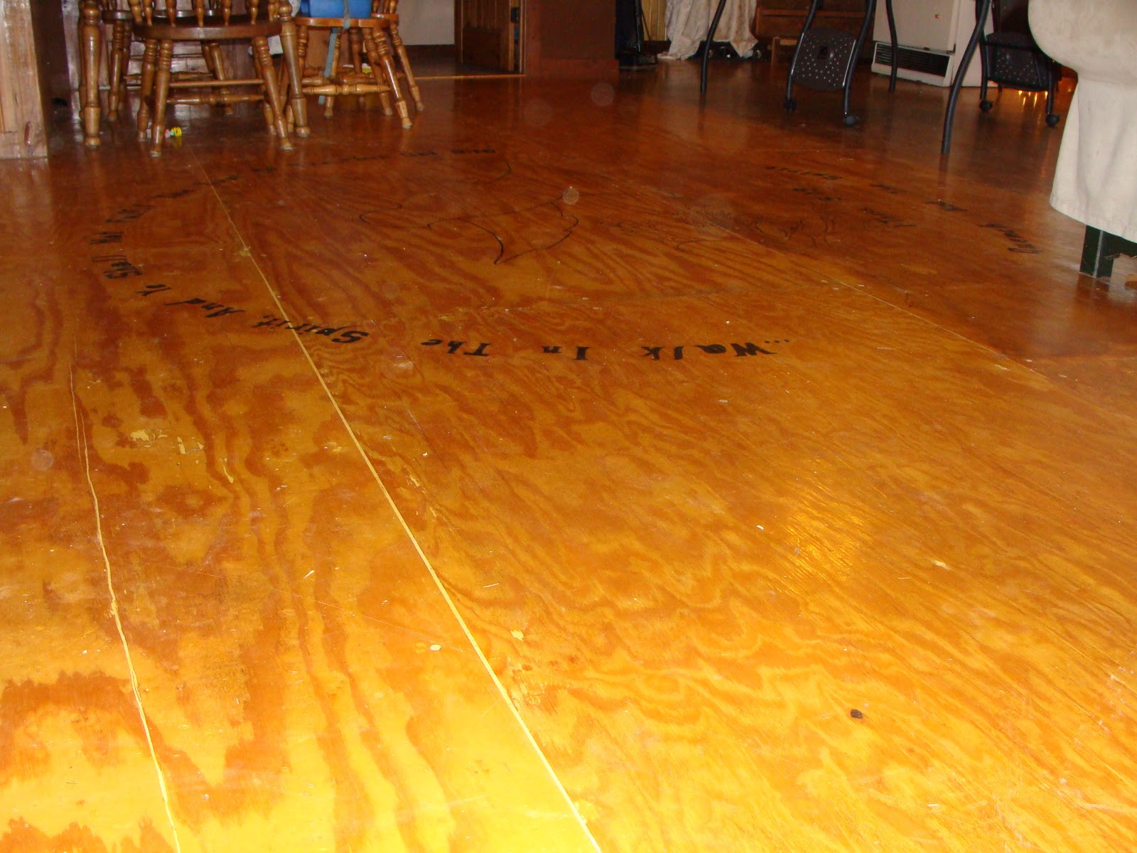 Best ideas about DIY Wood Floor . Save or Pin Sowin Love DIY Wood Floor For Families Now.