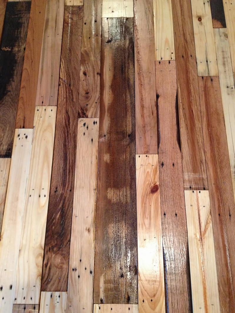 Best ideas about DIY Wood Floor . Save or Pin DIY Pallet Flooring Now.