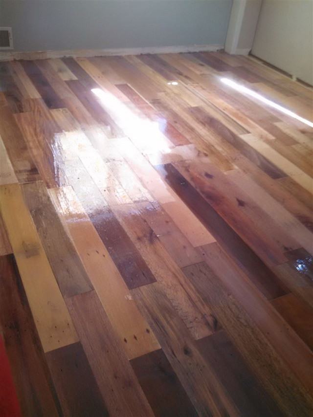 Best ideas about DIY Wood Floor . Save or Pin DIY Project Pallet Wood Floor – page 3 Now.