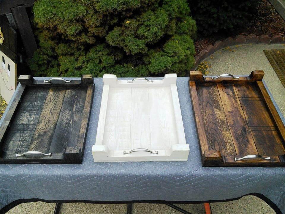 DIY Wood Serving Tray  DIY Pallet Serving Trays